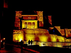 The  Temple of the Sun (Qorikancha) it quite a sight to see, especially all lit up at night. During the time of the Incas, this was the most revered temple in Cusco and accommodated over 4,000 priests and attendants.