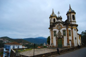 São Francisco Church is one of the most visited in Ouro Preto, Brazil. A vibrant craft fair takes place regularly in front of it to showcase the art of the local population.