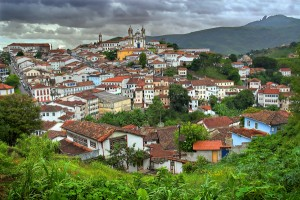 This lovely view of the historic centre of Ouro Preto, Brazil, was taken from one of several places that offer stunning panoramic vistas of town and the surrounding country