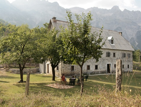 The Terthorja Guesthouse is listed as one of the biggest guesthouses in the hard-to-reach Theth Valley of northern Albania. Photo courtesy of Gent Mati