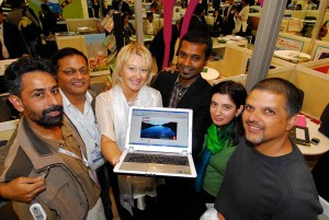 At the official launch in November 2009, the Green Circuit team is joined by Fiona Jeffery (third from left), head of World Travel Market