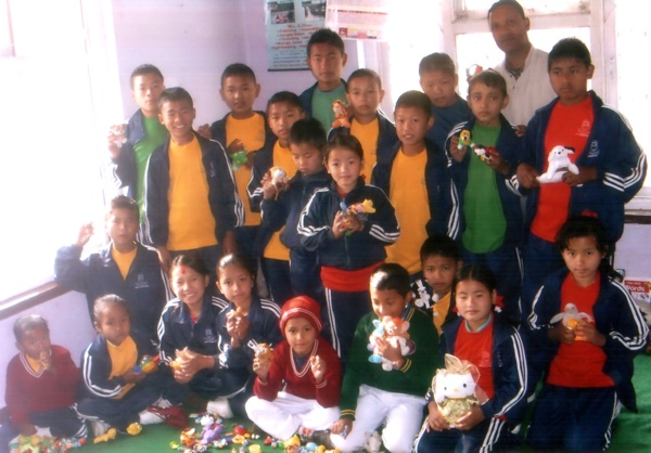 The playing/painting/computer/reading room of the Orphan and Street Children Rehabilitation Centre of Kathmandu, Nepal