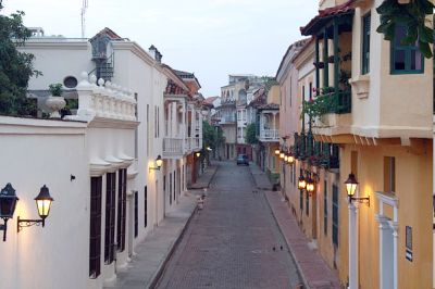 These Cartagena streets' flower-filled balconies are not only eye-catching sights during the day, but exude a special magic when the sun goes down and artists and locals fill the neighbourhood.