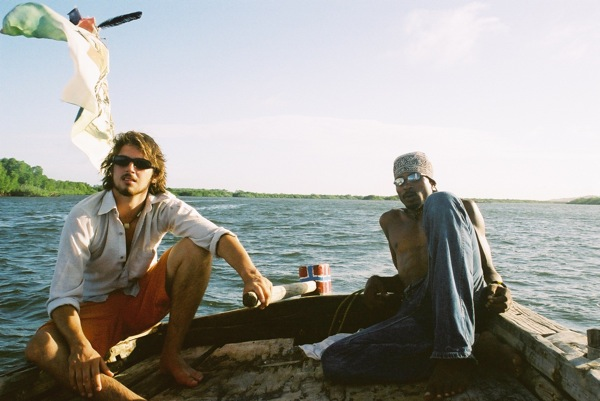 Dom sailing around the island of Lamu in northern Kenya