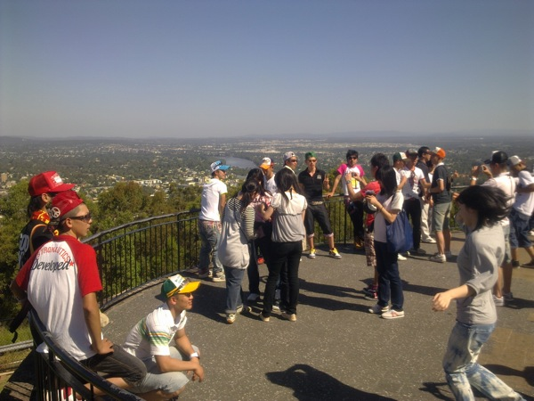 The popular Mt Coot-tha lookout over Brisbane, Australia, and time on the surrounding bush trails