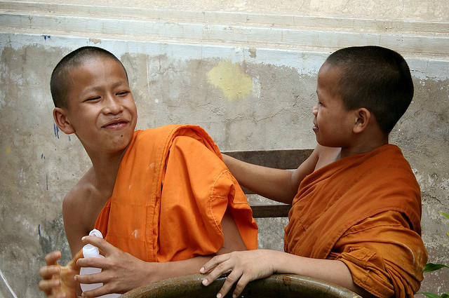 Photo of the Week (13 June 2010) - Young novice monks in Vientiane, Laos