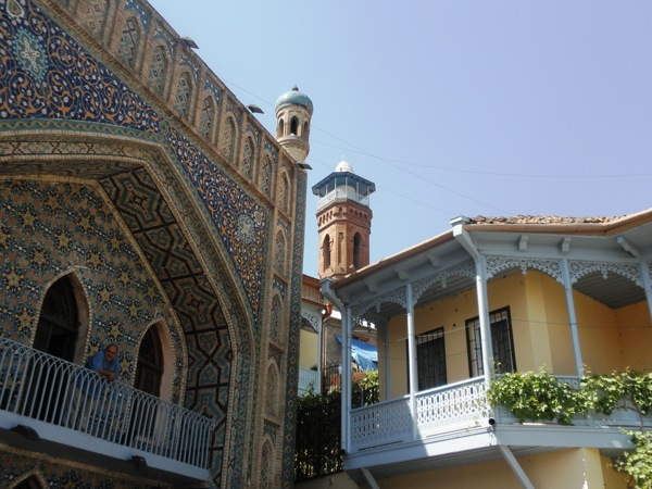 Only in the Old Tbilisi area of Tbilisi, Georgia, will one find the unique Sulphur Baths, a Turkish Mosque and beautiful 19th-century house