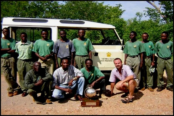 The Victoria Falls Anti-Poaching Unit (VFAPU) started with three scouts, but now has 12 full-time members who patrol the Victoria Falls area of Zimbabwe seven days a week