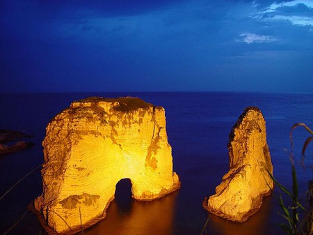 Rawcheh Rocks - in English, Pigeon Rocks - is a top tourist site in Beirut