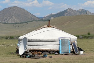 For several thousand years, Mongolian nomads usually live in a 'ger' or felt tent (yurt). Although the shape and traditional components have hardly changed, some of the modern accessories have.