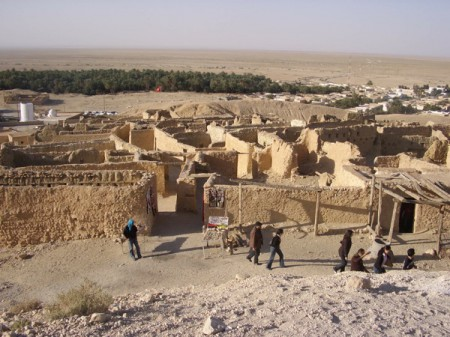 The beautiful mountain oasis of Chebika in Tunisia is a popular film location