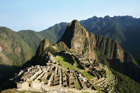 The view to Machu Picchu on a clear day.