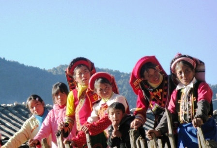 A Yi ethnic minority celebration in Lijiang, China