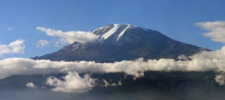Comprising three inactive volcanic cones, Mt. Kilimanjaro is the highest mountain in Africa