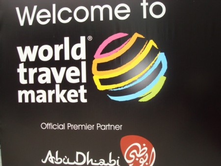 A welcoming poster at the World Travel Market 2010