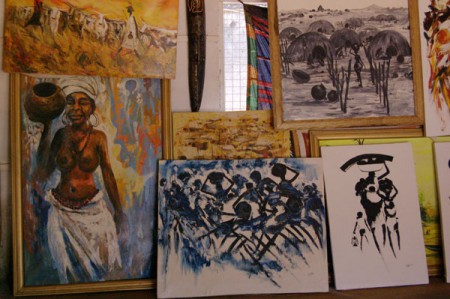 Local art in Northern Ghana