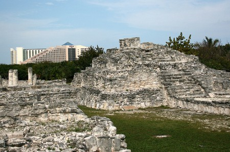 The 'El Rey' archaeological zone of Cancun, Mexico, is small but very significant