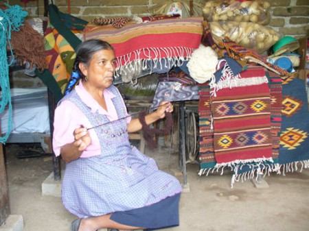 Microfinancing loan recipient Eulalia in Teotitlán del Valle, Oaxaca, Mexico