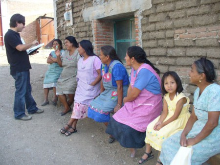 Women awaiting microfinance loans in Teotitlán del Valle, Oaxaca, Mexico