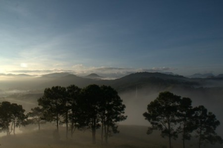 Morning mist on the Xieng Khouang hills, Laos