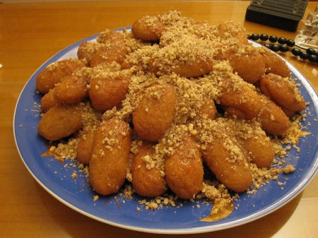 Melomakarona sweets are enjoyed in Greece during the Christmas season