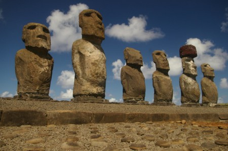 Tongariki on Easter Island, Chile