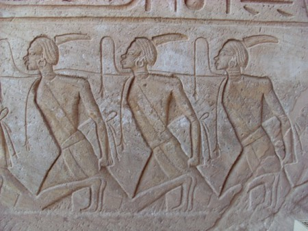relief carving, temple of Ramesses, Egypt