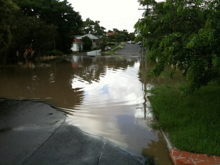 Flooding in Yeronga, Queensland, Australia