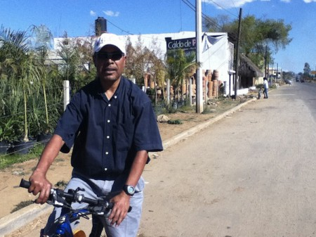 Pedro Martinez, owner of Bicicletas Pedro Martinez, in Oaxaca, Mexico