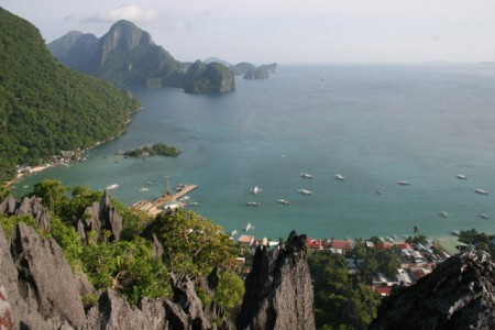 A dramatic arial view of Palawan, Philippines