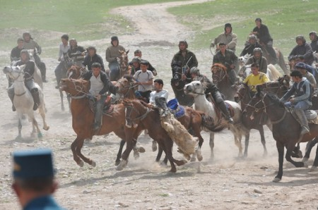 Buzkashi being played in Uzbekistan
