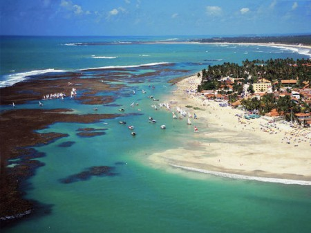Beach at low tide, Porto de Galinhas, Brazil