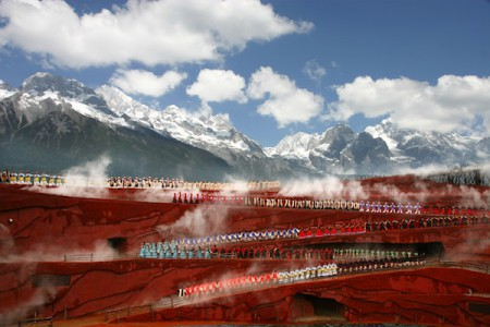 Impression Lijiang show, Jade Dragon Snow Mountain, Lijiang, China