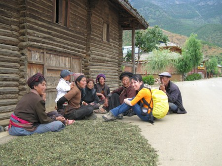 Meeting Mosuo people near Lugu Lake, Lijiang, China