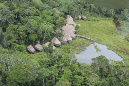 In Ecuador, the Kapawi Ecolodge is in a remote and well-protected part of the Amazon, deep in the large First Nation territories of the Achuar people