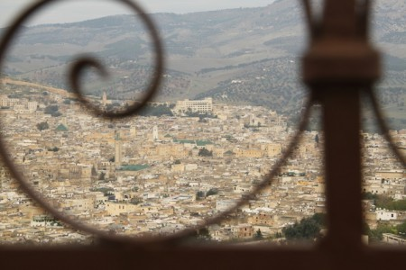 A panoramic view of the ancient city of Fes, Morocco