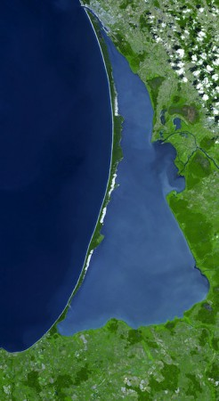 Curonian Spit of Lithuania seen from space