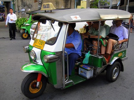 tuk-tuk bangkok thailand - local high-occupancy vehicle