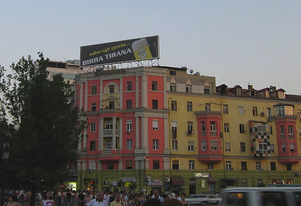 A Birra Tirana billboard in Albania