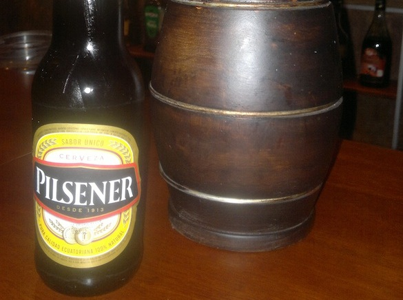 Pilsener, one of two very popular beers in Quito, Ecuador