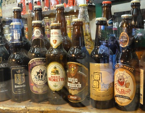 Craft beers in Villa General Belgrano, Argentina