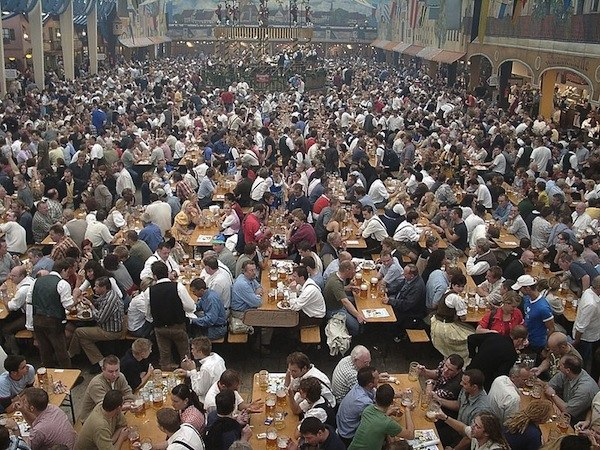 Oktoberfest - bierzelt beer tent in Munich Germany