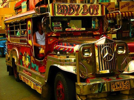 A Jeepney bus in Manila, Philippines