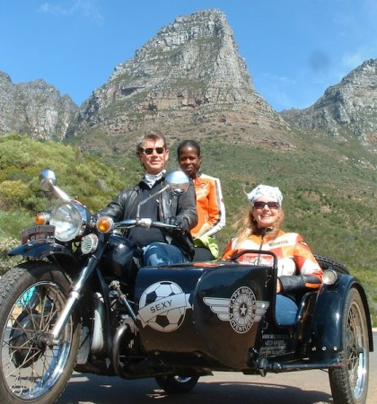 Cape Town WWII motorcycle sidecar