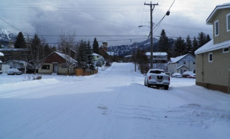 Fernie, British Columbia, under the snow