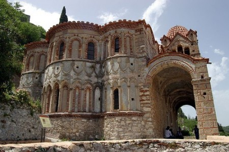 Byzantine church, Mystras, Peloponnese, Greece