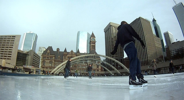 Photo of the Week (April 8 2012) - Skating in Nathan Phillips Square, Toronto, Canada