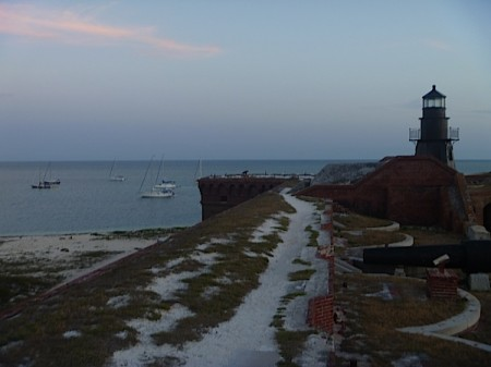 Dry Tortugas National Park Florida - nightfall and lighthouse by Amber Nolan
