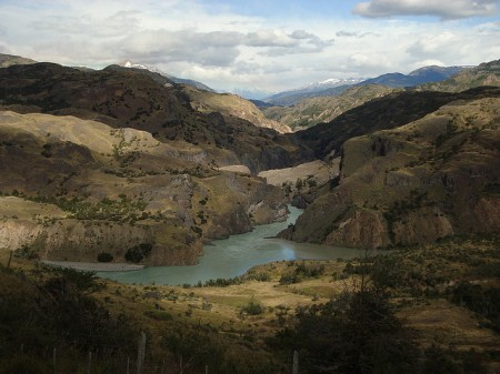 Confluence of Rio Baker and Rio Chacobuco, Patagonia, Chile