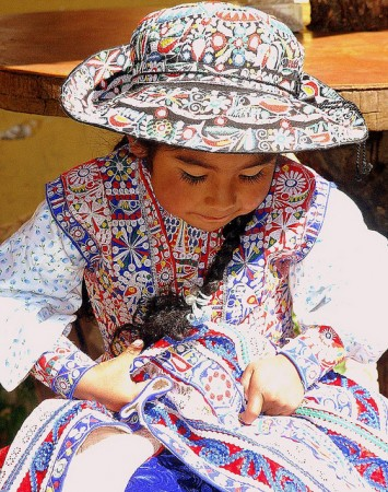 little girl, Colca Canyon, Peru
